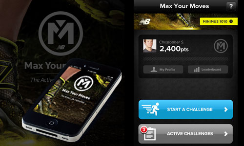 New Balance: Max Your Moves iOS App
